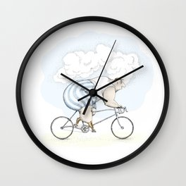 Fat cyclist Wall Clock