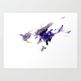 the bird flies to God. that God's name is ...... Art Print