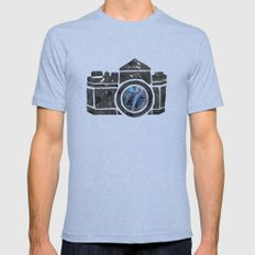 Camera Tri-Blue SMALL Mens Fitted Tee