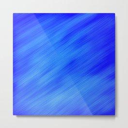 Blue White Swipe Metal Print