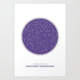 Constellation of the Northern Hemisphere Art Print