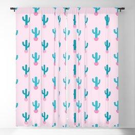 Succulent Cactus Pattern Blackout Curtain