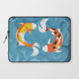 Koi Fishes in Pond Laptop Sleeve