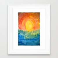 hindu Framed Art Prints featuring Hindu Creation by Brusling