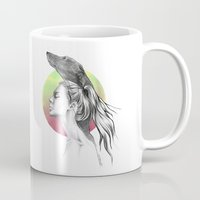 the hound Mugs featuring The Hound by eDrawings38