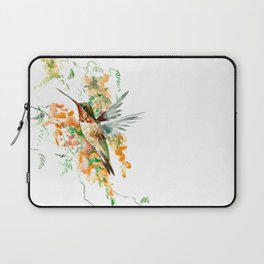 Hummingbird and orange flowers Laptop Sleeve