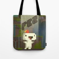 fez Tote Bags featuring FEZ: Gomez by Retro Zombie