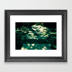 follow the pine cones Framed Art Print