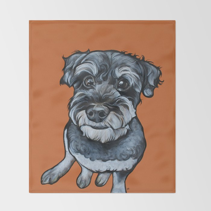Frankie the Schnoodle Throw Blanket