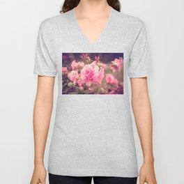 Pink Azalea Bliss Unisex V-Neck