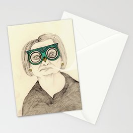 I Like My Owl-Pimped Glasses Stationery Cards