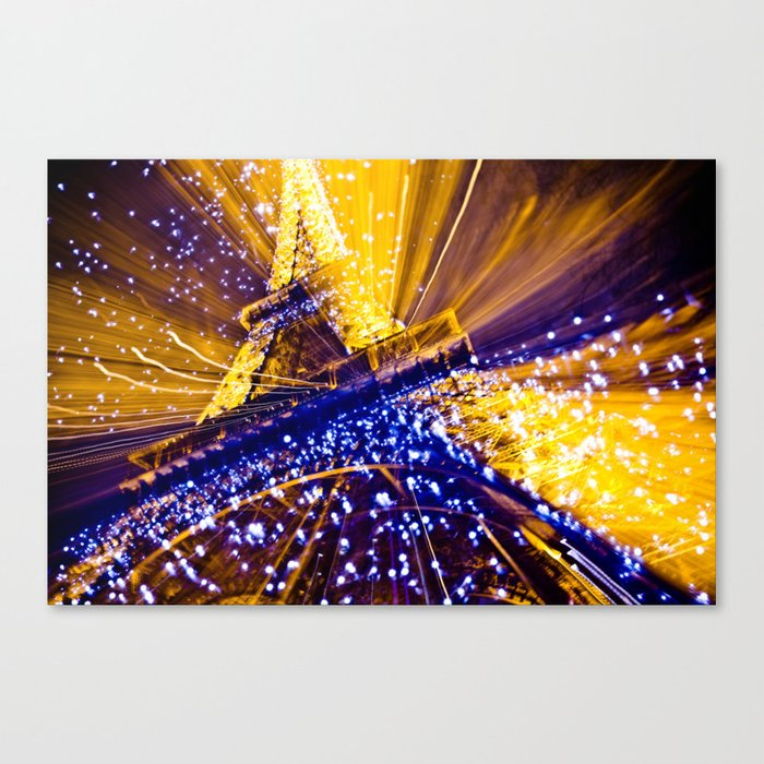 Supernova Eiffel Canvas Print