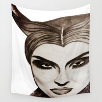 maleficent Wall Tapestries featuring Maleficent by orah