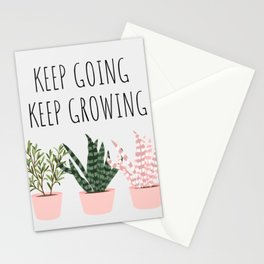Keep Going, Keep Growing Stationery Cards
