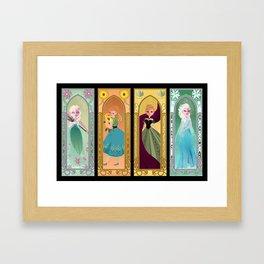 Saisons de Arendelle Framed Art Print