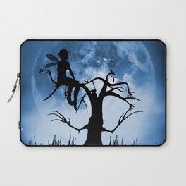 Moonlight Wondering Fairy - Blue Laptop Sleeve