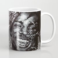 africa Mugs featuring Africa by Lucy Schmidt Art