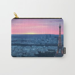 Paris City Sunset Carry-All Pouch