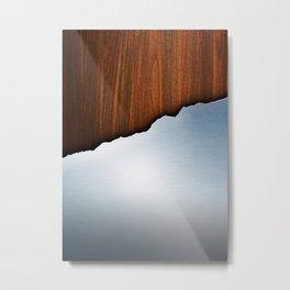 Wooden Brushed Metal Metal Print