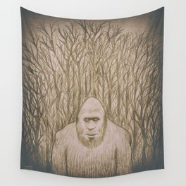 Sasquatch in the woods Wall Tapestry