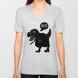 Cute T-Rex Raw Unisex V-Neck
