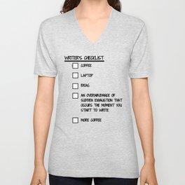 Writer's Checklist Unisex V-Neck