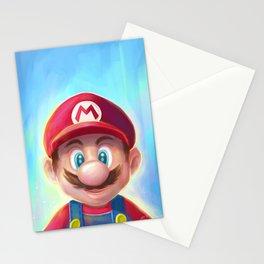 Mario Portrait Stationery Cards