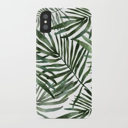 Watercolor simple leaves iPhone Case