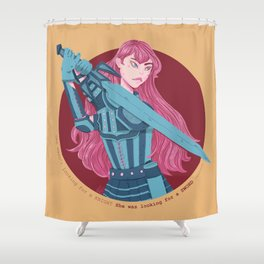 She was Looking for a Sword Shower Curtain
