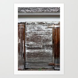 Brown and White Door Art Print
