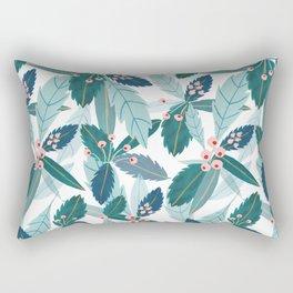 Blue Florals Rectangular Pillow