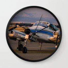 Sunset Plane Wall Clock