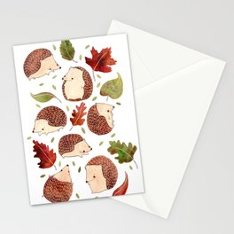 Autumn Hedgehogs Stationery Cards