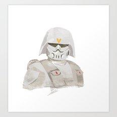 Ralph McQuarrie concept Snowtrooper  Art Print