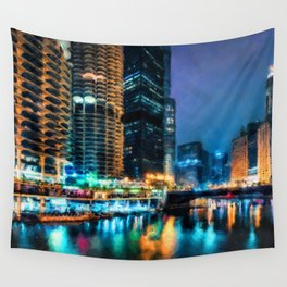 Chicago Panorama Wall Tapestry