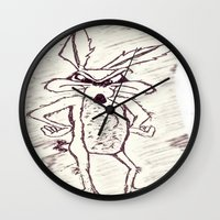 coyote Wall Clocks featuring Coyote by Dmarmol