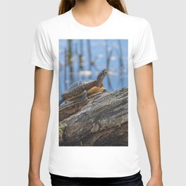 Painted turtle on a log T-shirt