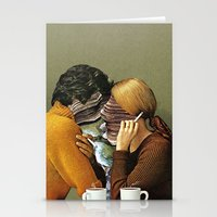 eugenia loli Stationery Cards featuring A Creek Between Us by Eugenia Loli
