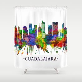 Guadalajara Mexico Skyline Shower Curtain