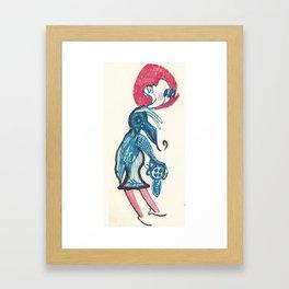 Flat Back Hattie Doodle Framed Art Print