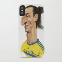 sweden iPhone & iPod Cases featuring Ibrahimovic - Sweden by Sant Toscanni
