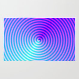 Coiled in Blue and Pink Rug