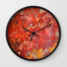 Sunset Splatter Stones Wall Clock
