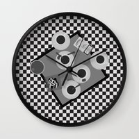 cigarettes Wall Clocks featuring coffee and cigarettes by Live It Up