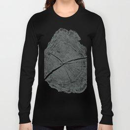 Locust Tree ring image, woodcut print Long Sleeve T-shirt