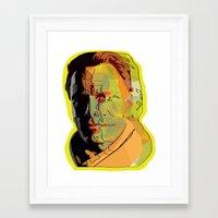 bender Framed Art Prints featuring Fassy's bender by Zoe Jones