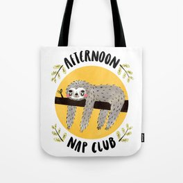 Afternoon Nap Club Sloth Tote Bag