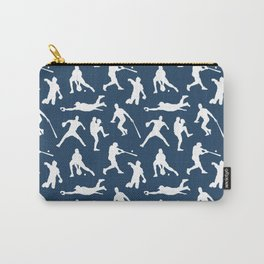Baseball Players // Navy Carry-All Pouch