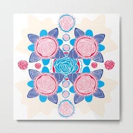 Cotton Rose Metal Print