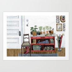 Cozy Entryway Art Print